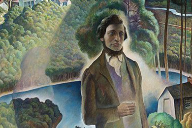 massachusetts-dipinto-rappresenta-thoreau-a-walden
